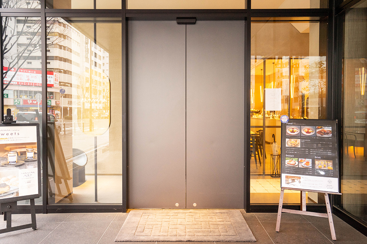 KAMIYAMA lobbyの入り口