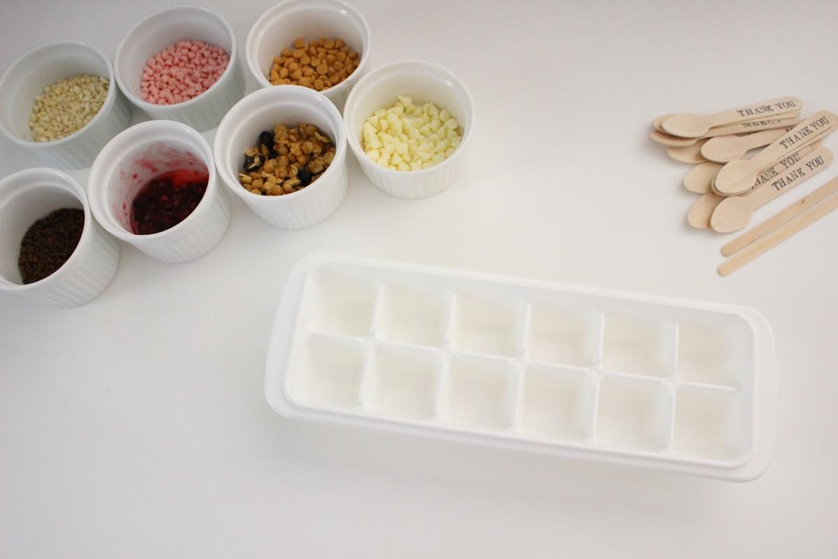 製氷皿チョコ材料