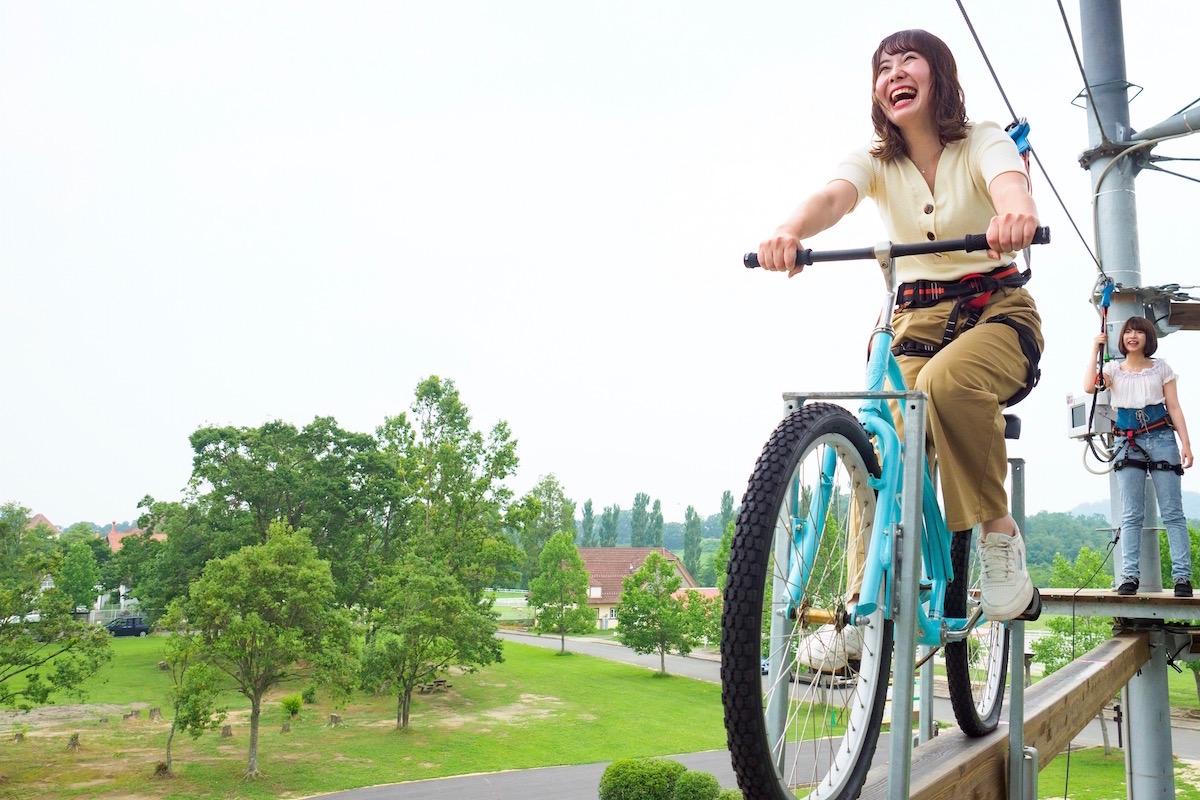 空中サイクリング