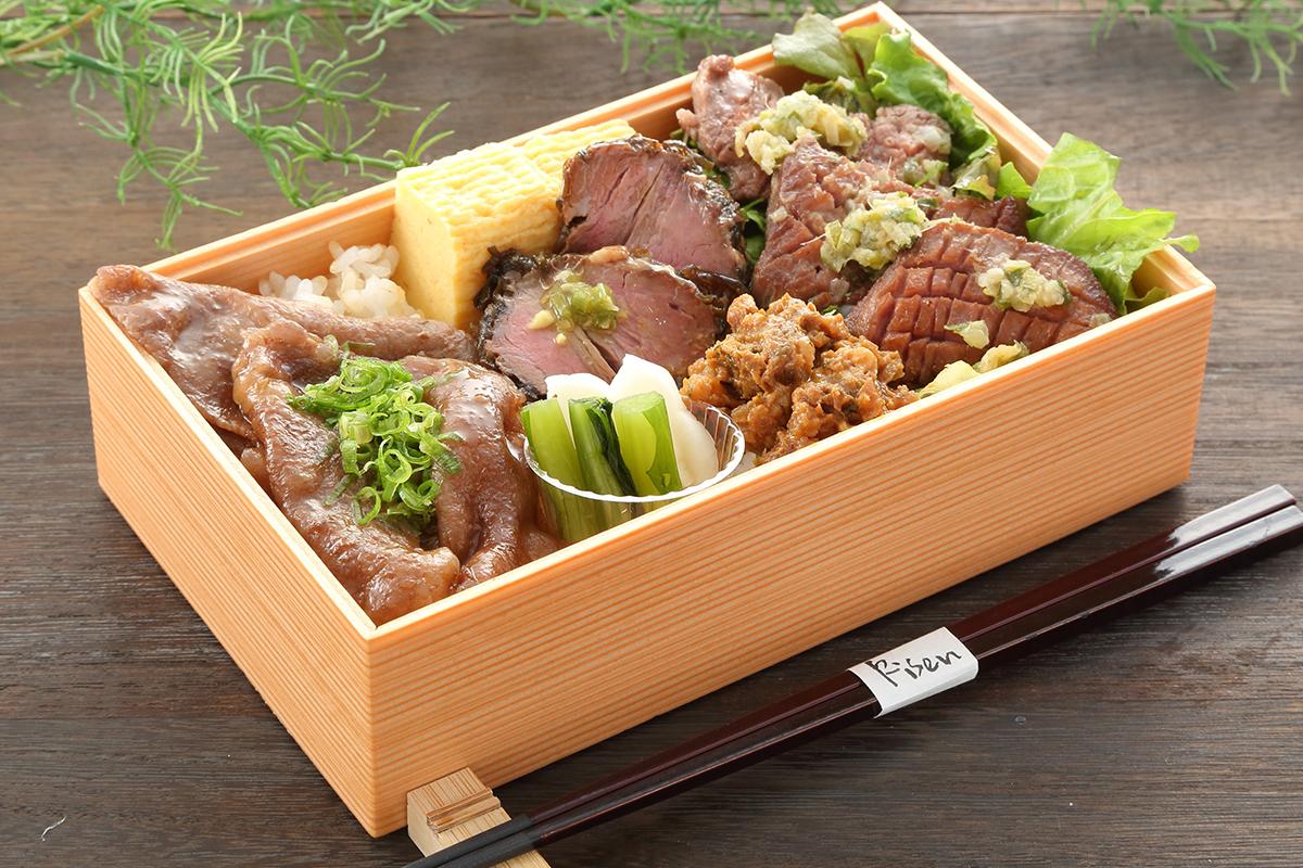 璃泉の神戸牛食べ比べ重