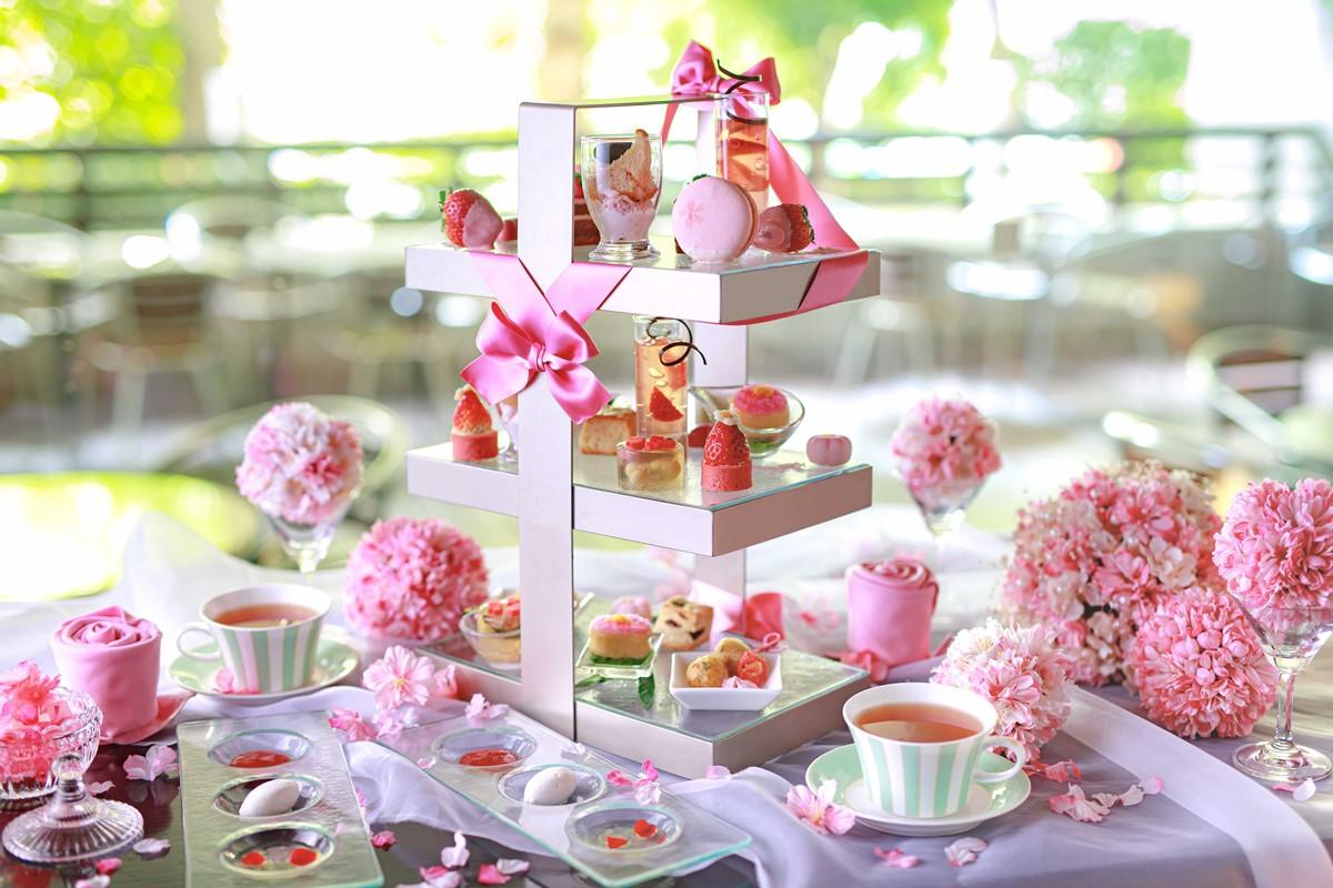 【大阪・北新地】ホテルスイーツで春満喫。「桜ピンクアフタヌーンティー」