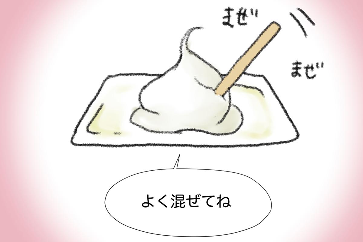 ブリーチ剤を混ぜるイラスト