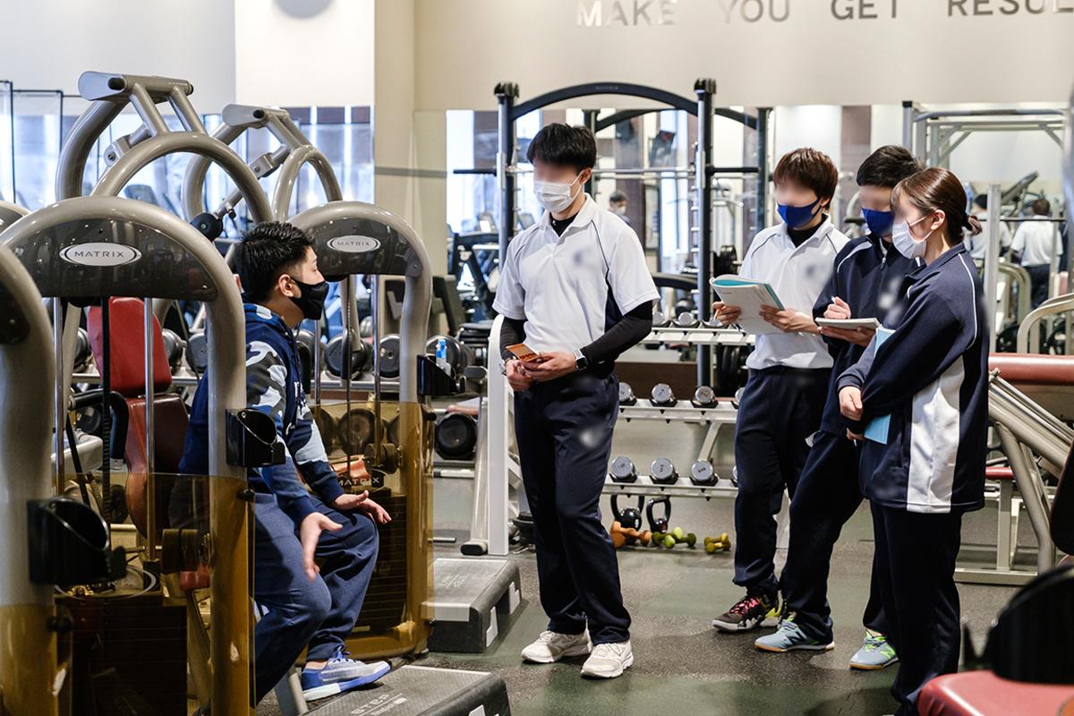 スポーツ専門学校生徒の実地研修