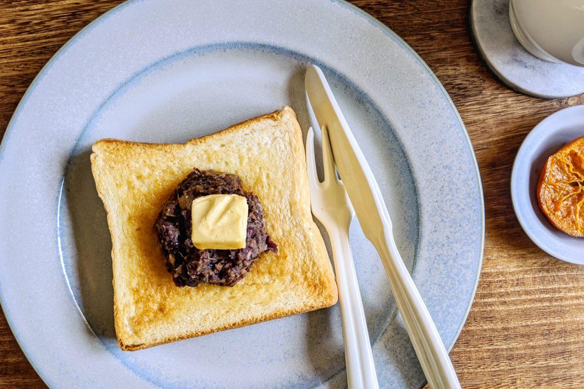 パンデシンプルの食パンであんバタートースト