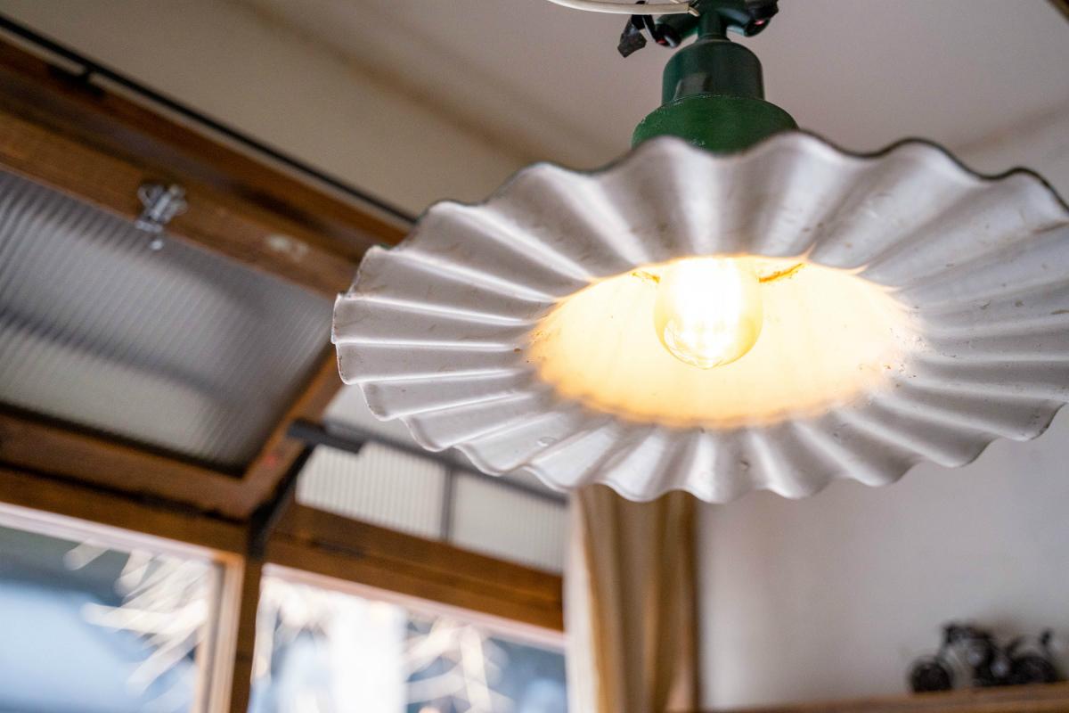 オソラカフェの店内照明