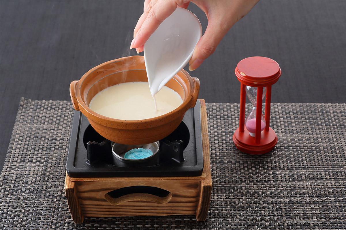 豆乳からつくる嵐山豆腐