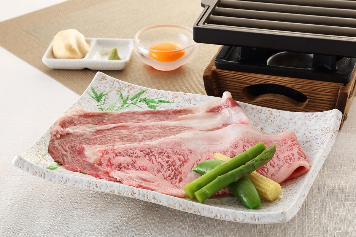 亀岡牛と神戸牛の焼きしゃぶ