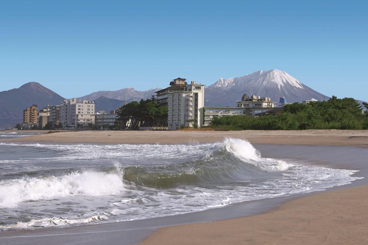 鳥取県の風光明媚な温泉地、皆生温泉