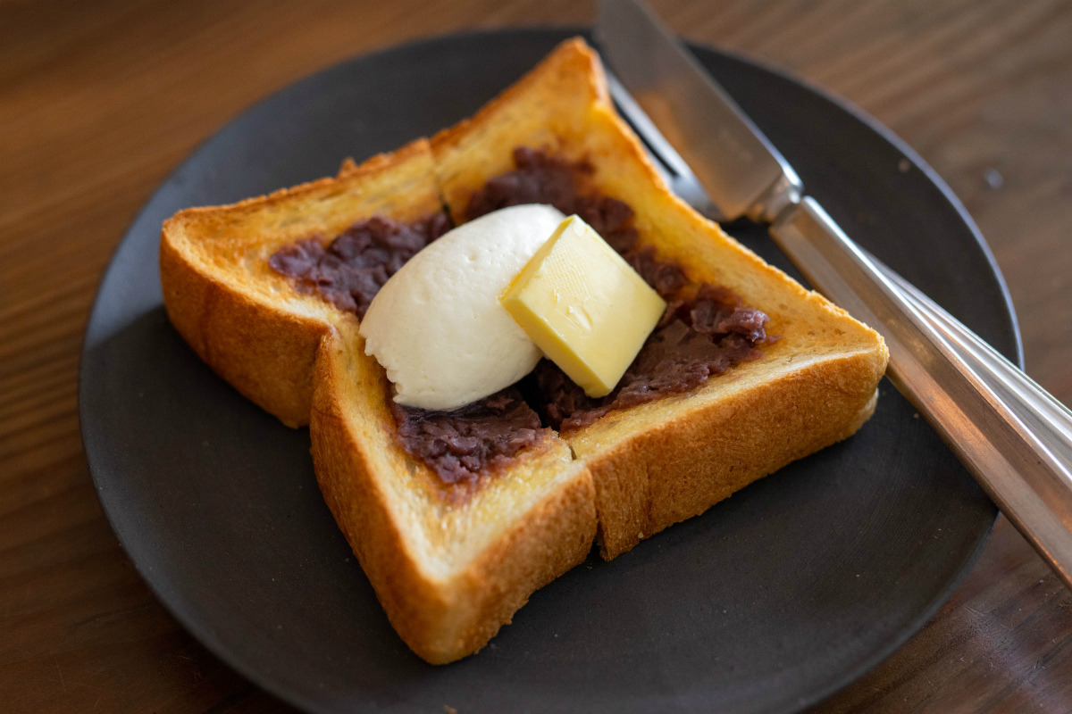 あんバタートースト