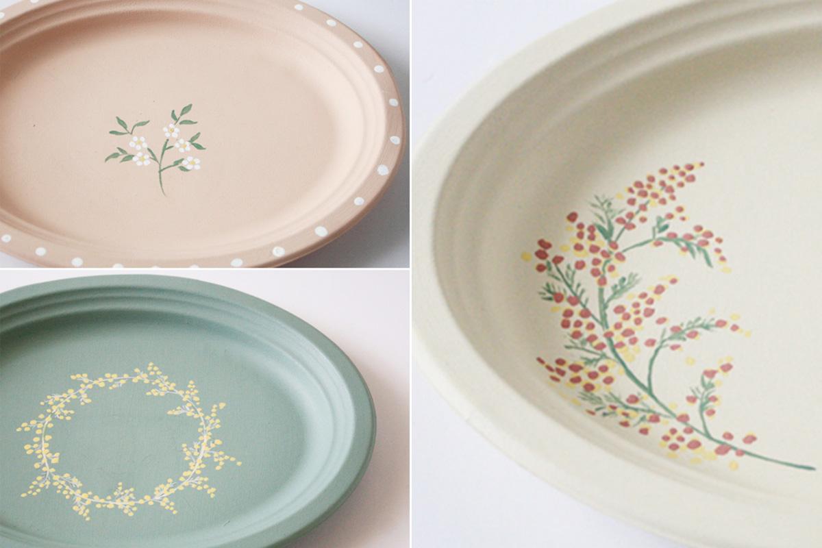 【連載】セリアの紙皿で作る「春色ボタニカルプレート」をおうち時間で!