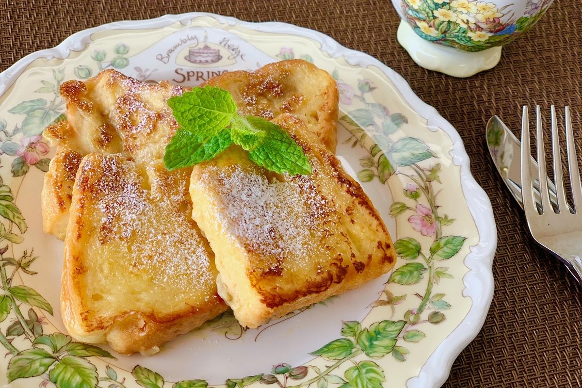 とろけるバナナフレンチトースト