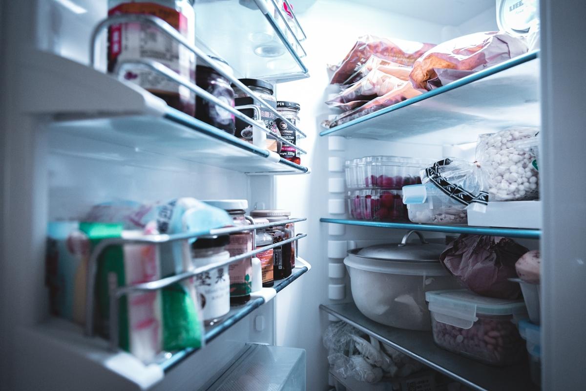 冷蔵庫を開けた状態