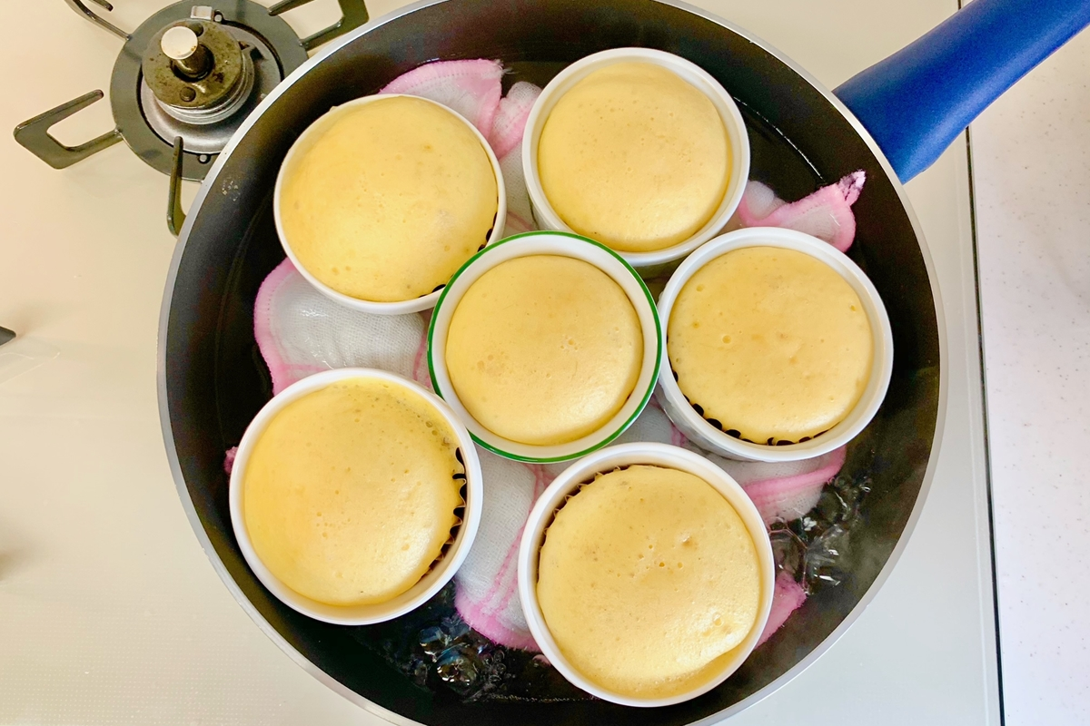 豆乳バナナ蒸しパン調理工程
