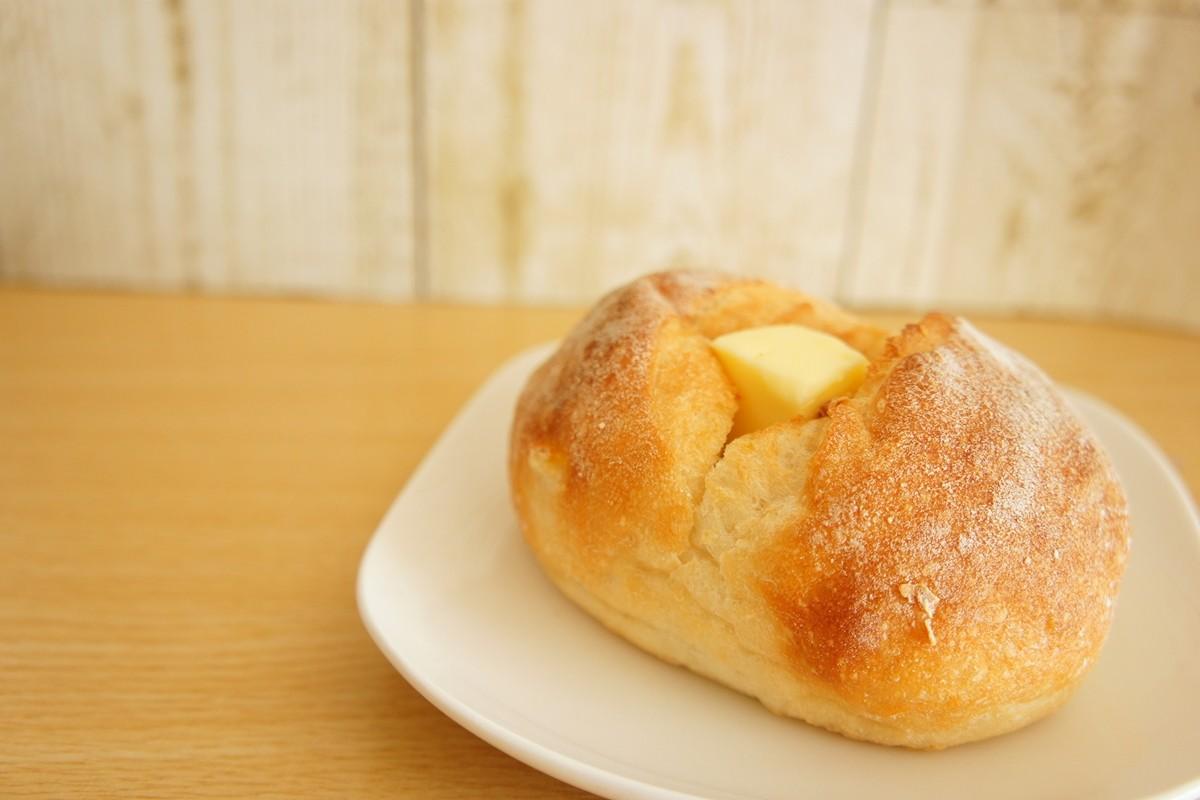バターが乗ったやさしい柚子パン