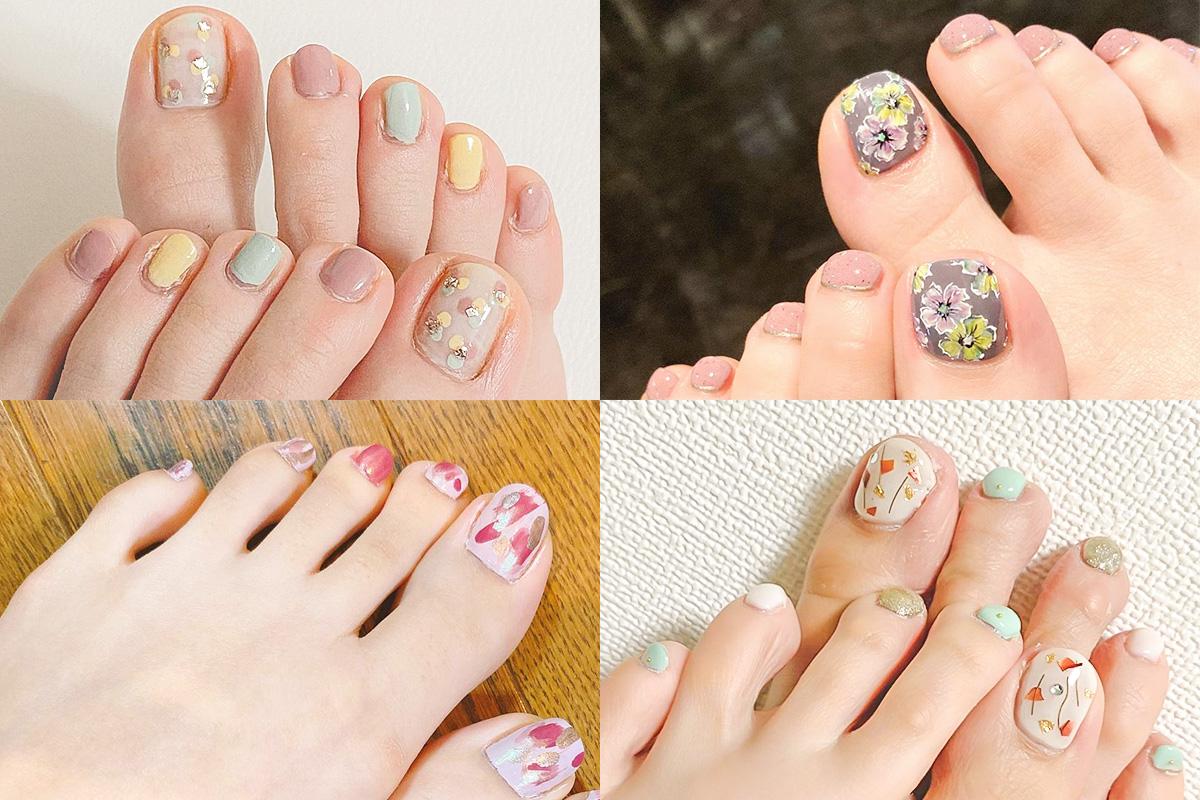 【春のフットネイルデザイン】花柄やパステルカラーなど盛りだくさん!