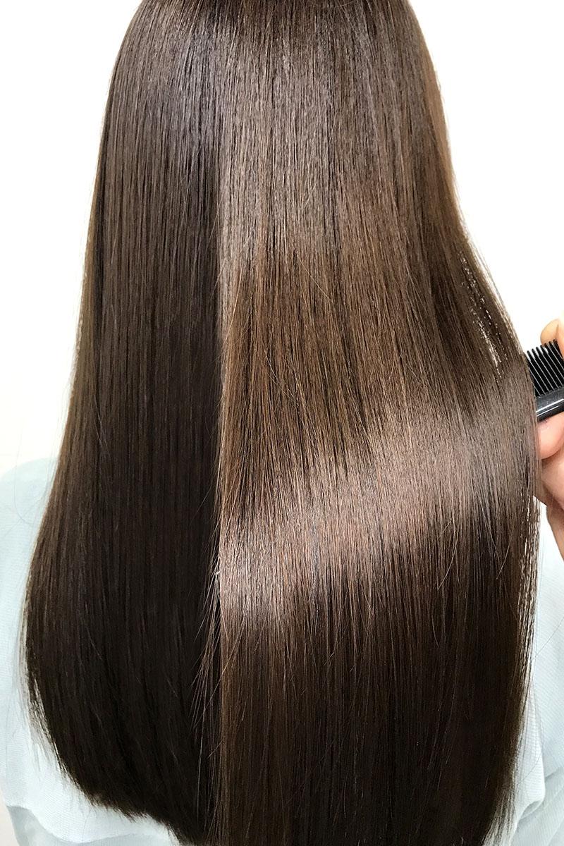 ツヤのある髪