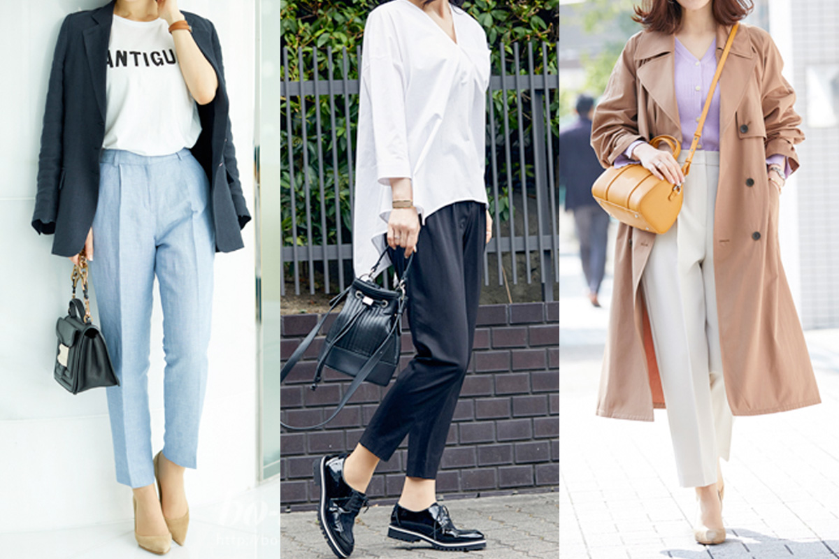 「アンクルパンツ」は靴選びがポイント!足元にぬけ感を作るアイデア