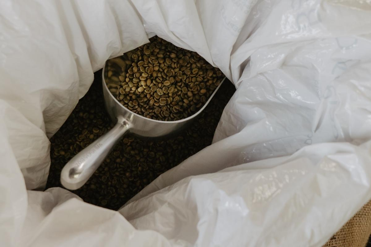 保存袋のコーヒー豆