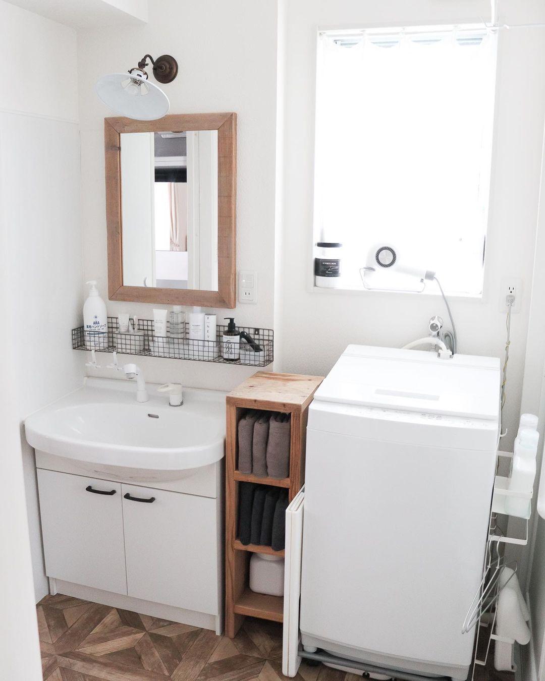 整理整頓された綺麗な洗面所