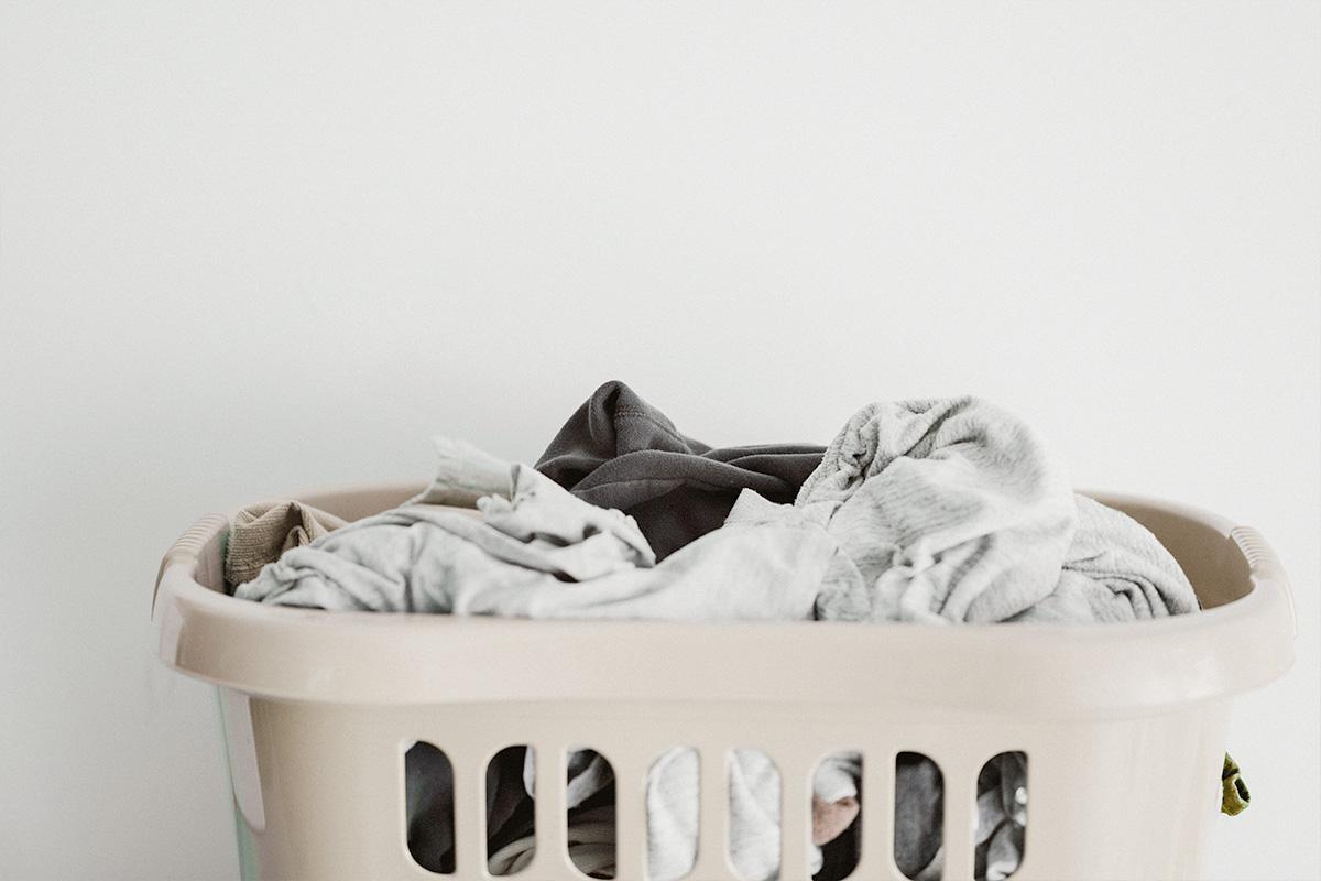 濡れたまま放置された洗濯物