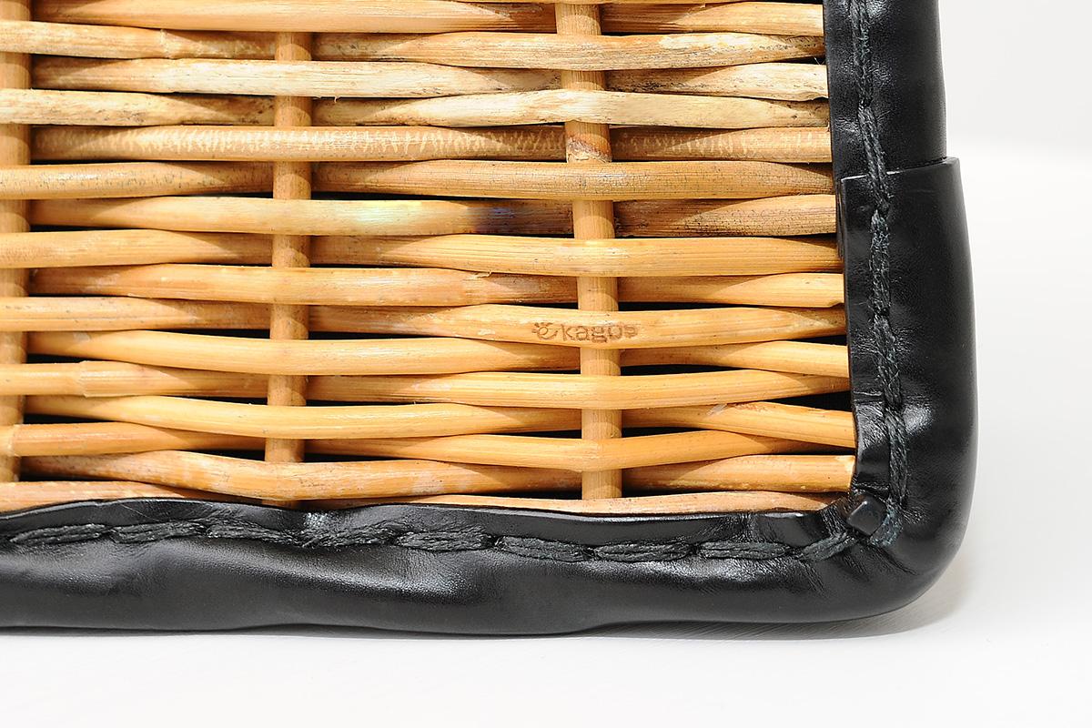 かっちりバッグのレザートリム