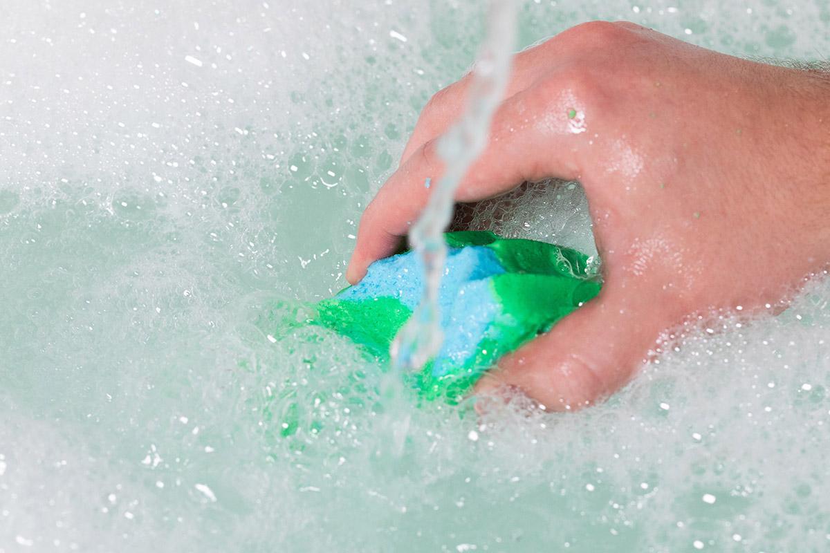 LUSHのバブルバーの使用例