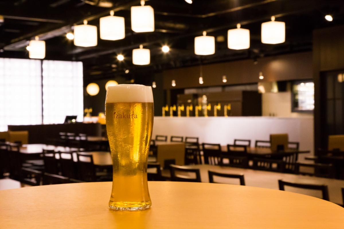 黄桜レストランのビール