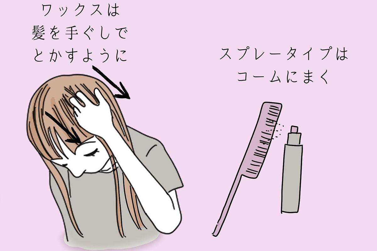 ッスタイリング剤の使い方