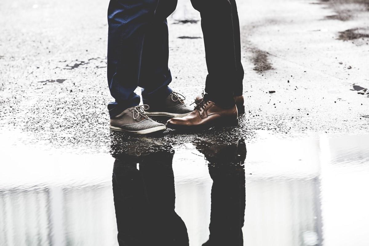 革靴は水濡れに弱い