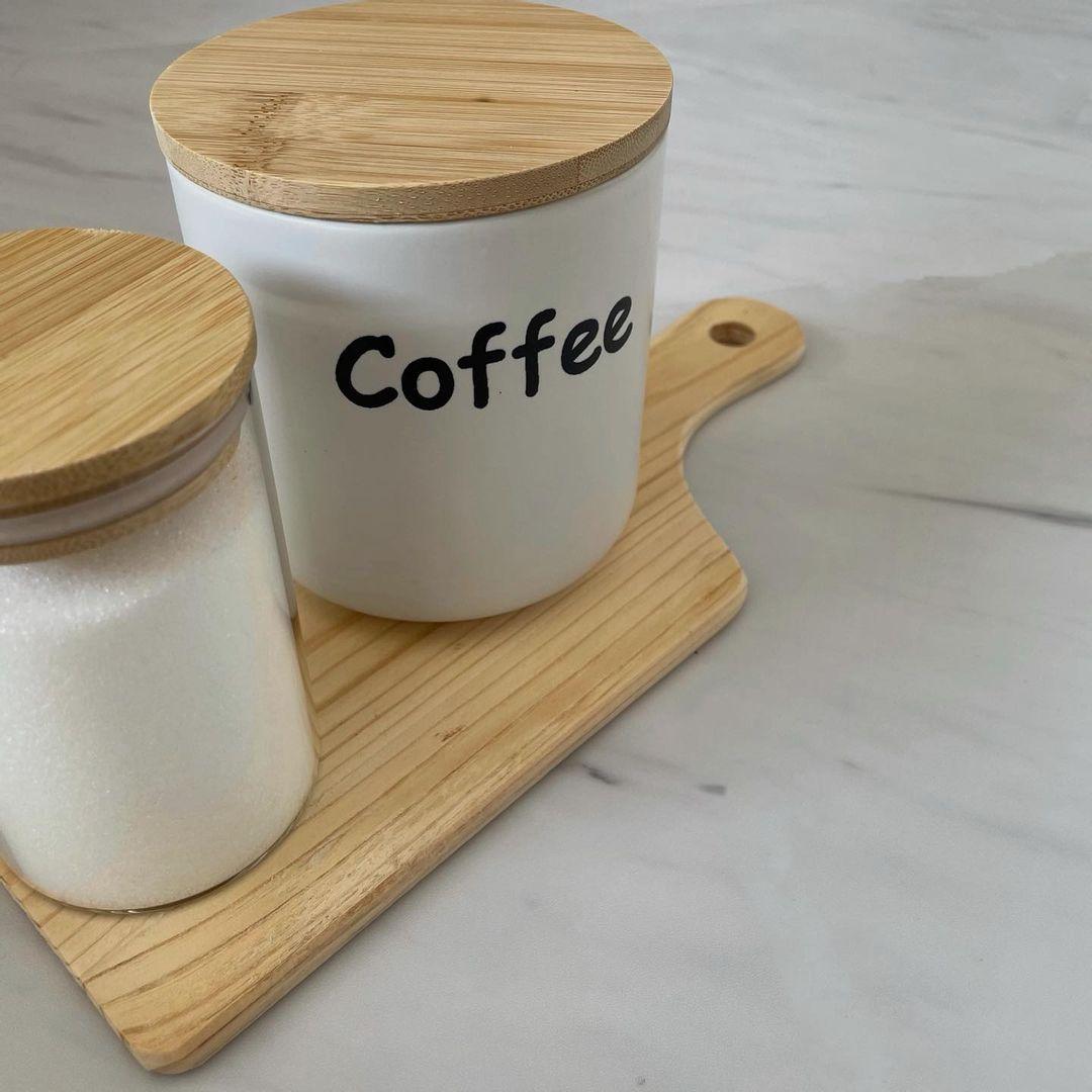 ダイソーのコーヒーキャニスター
