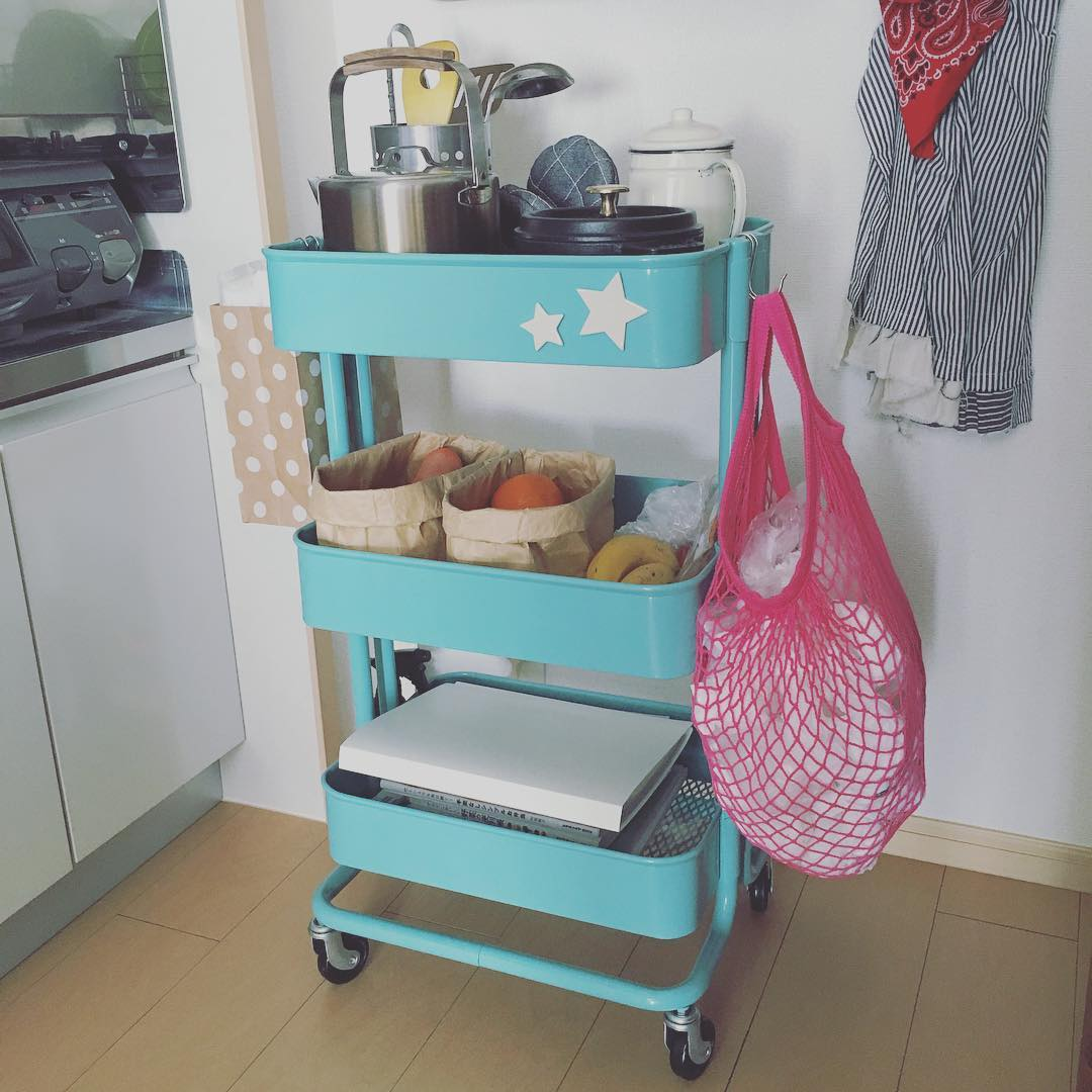 IKEAのワゴンをキッチンワゴンとして活用する