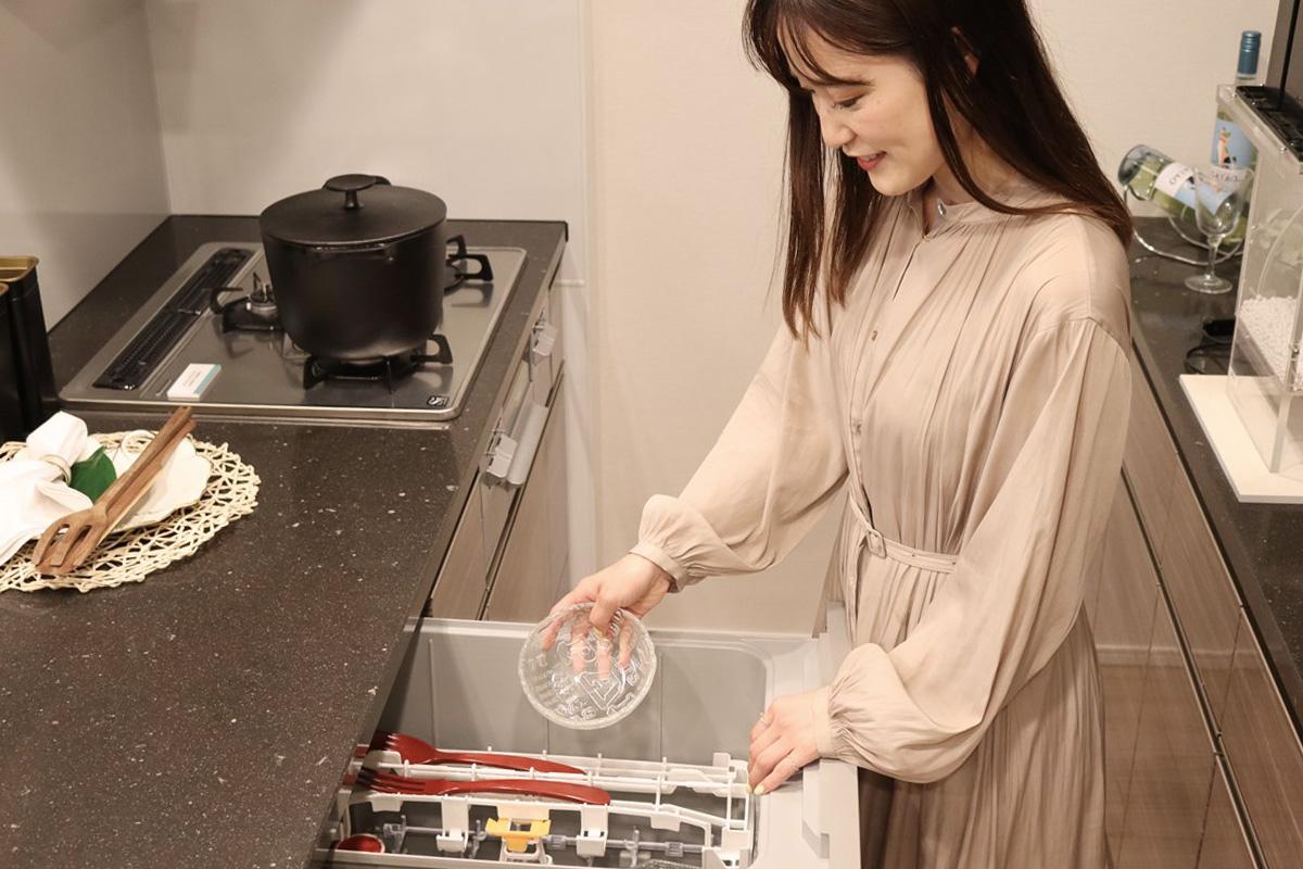 マンションギャラリーのビルドイン食器洗い乾燥機