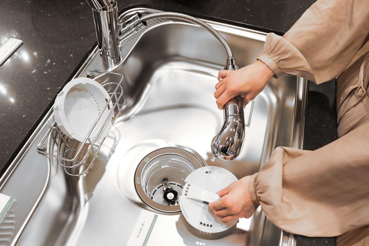 ディスポーザーと浄水器一体型シャワー水栓