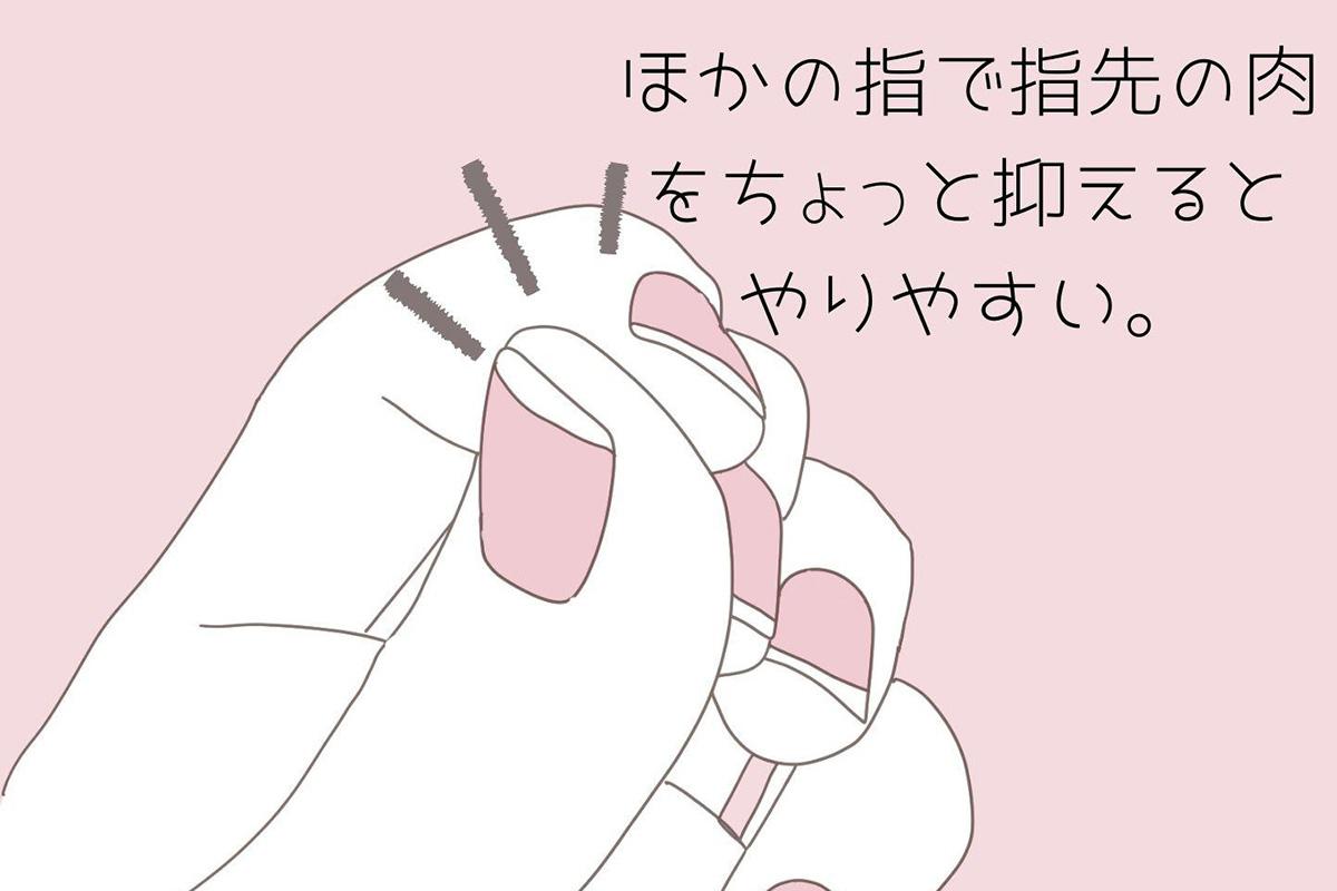 ネイルを緩いやすい指の形のイラスト
