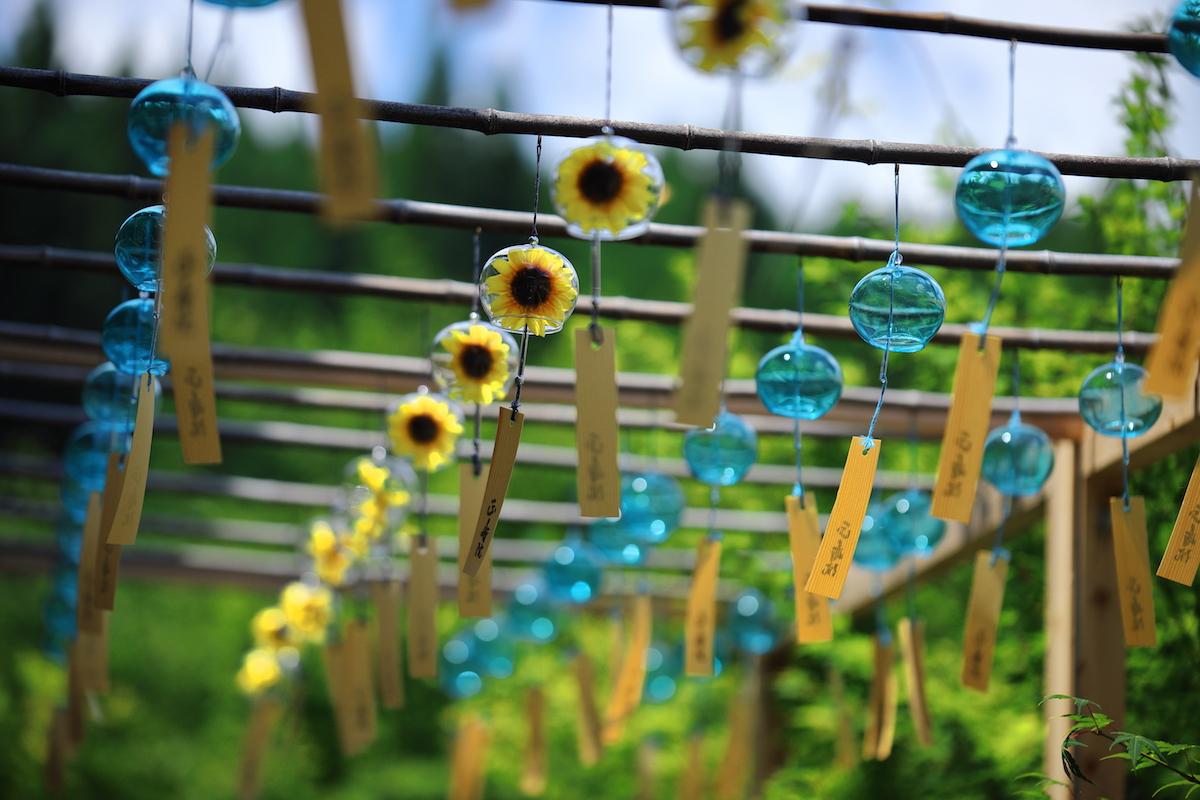 正寿院のひまわり花風鈴