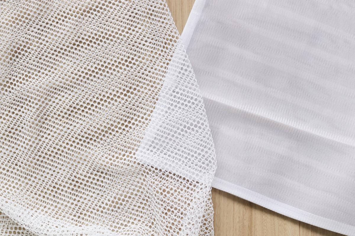 洗濯ネットの網目の大きさを比較