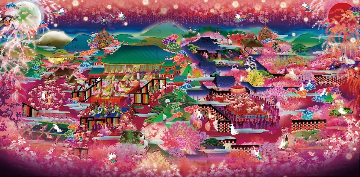 「極彩色梅匂小町絵図」の拡大図