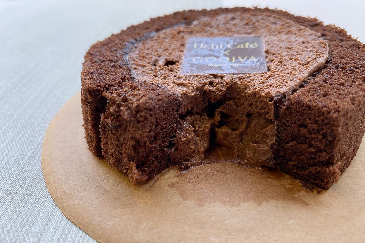 ショコラロールケーキ中身