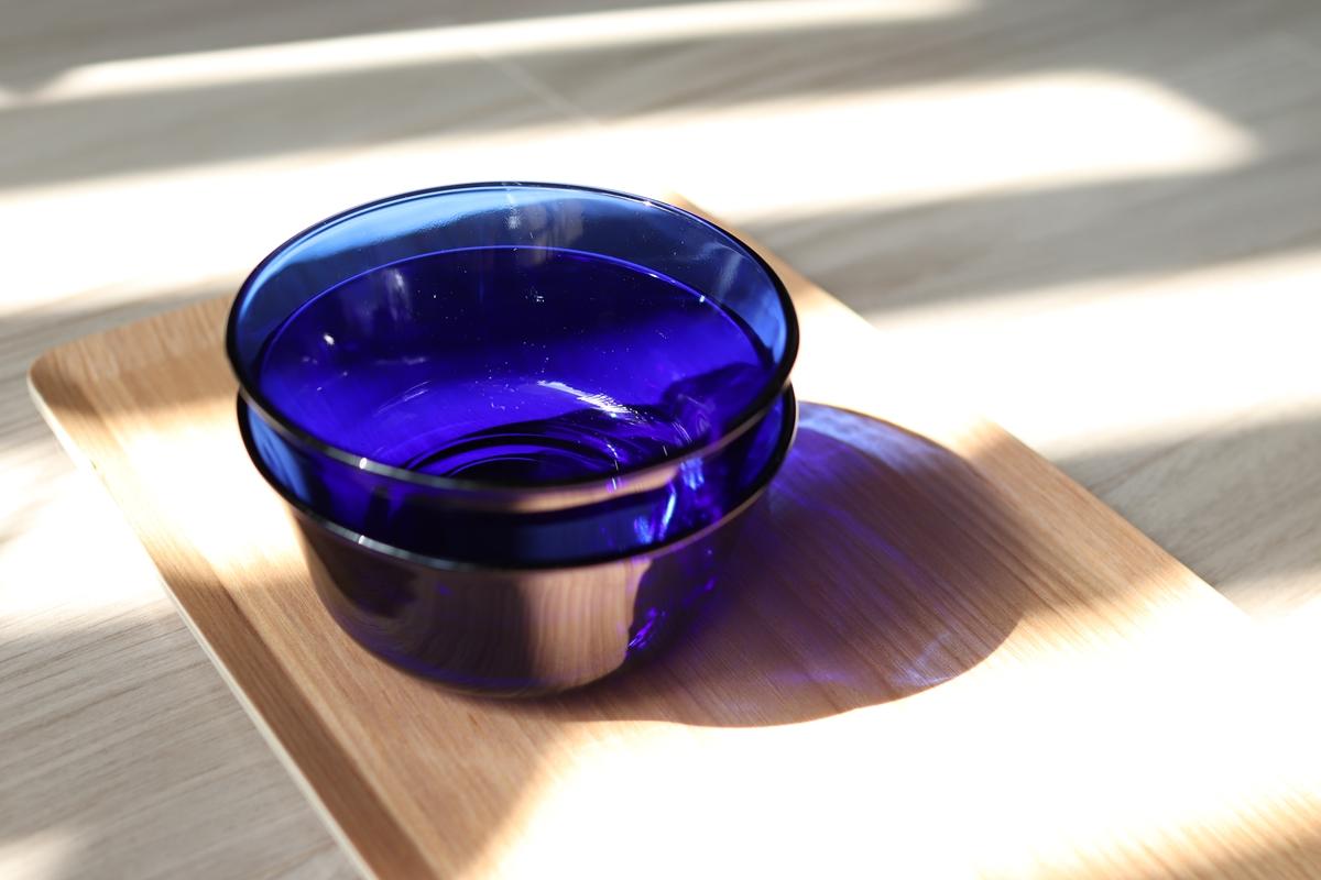 ナチュラルキッチンのデュラレックス製ガラスボウル