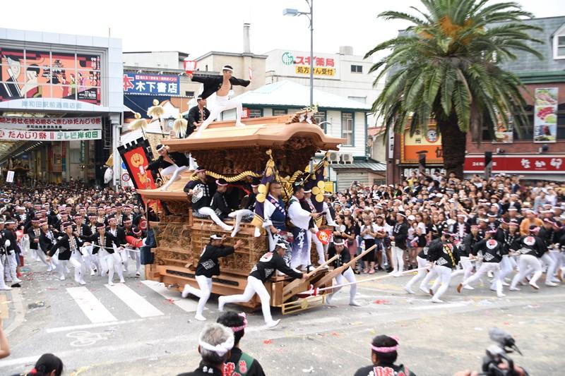 岸和田だんじり祭のやりまわし