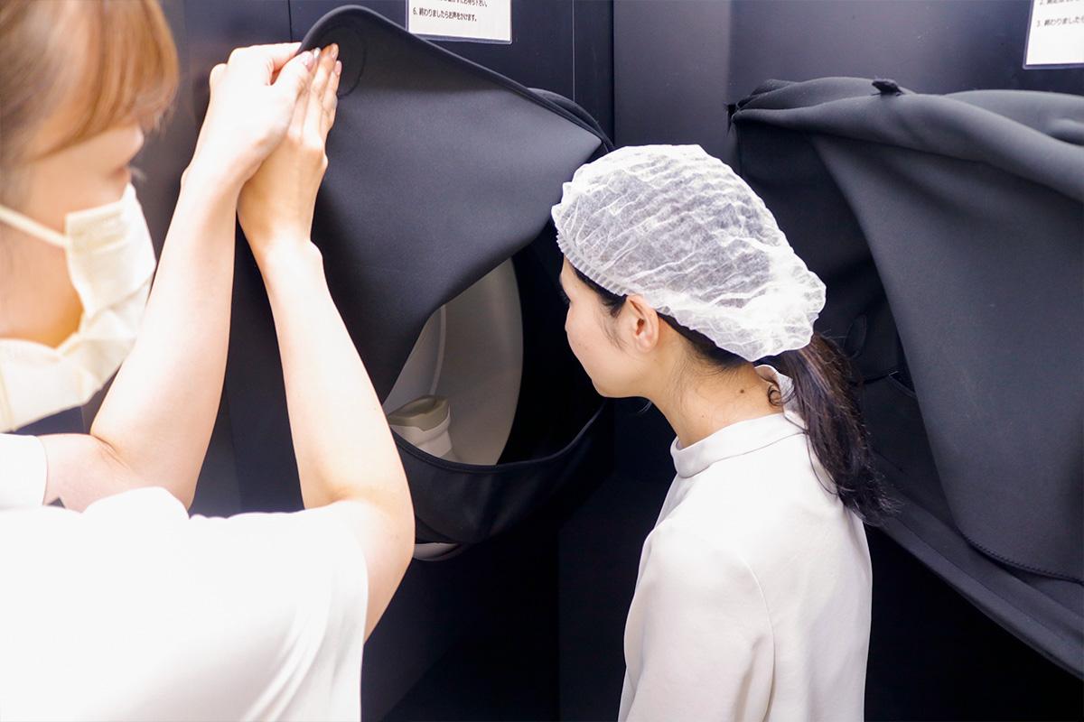 3D肌解析機で肌状態を解析