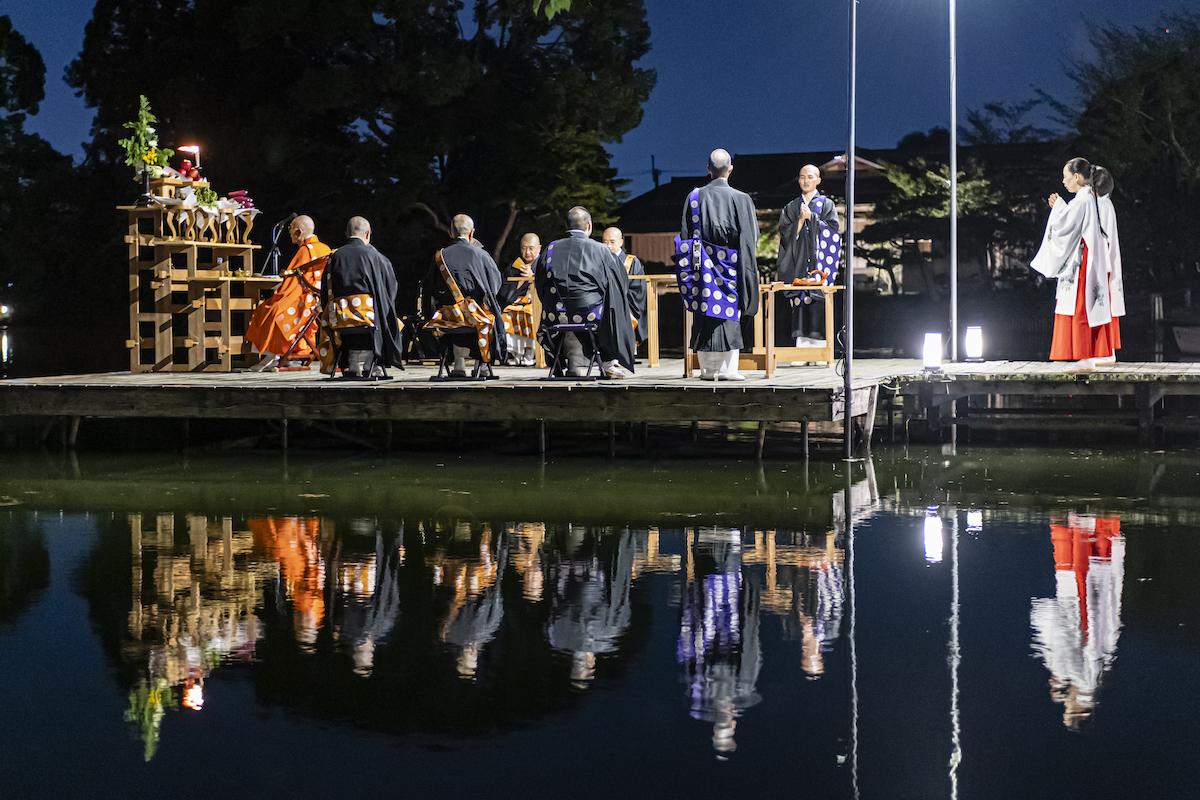 大覚寺の観月の夕べ