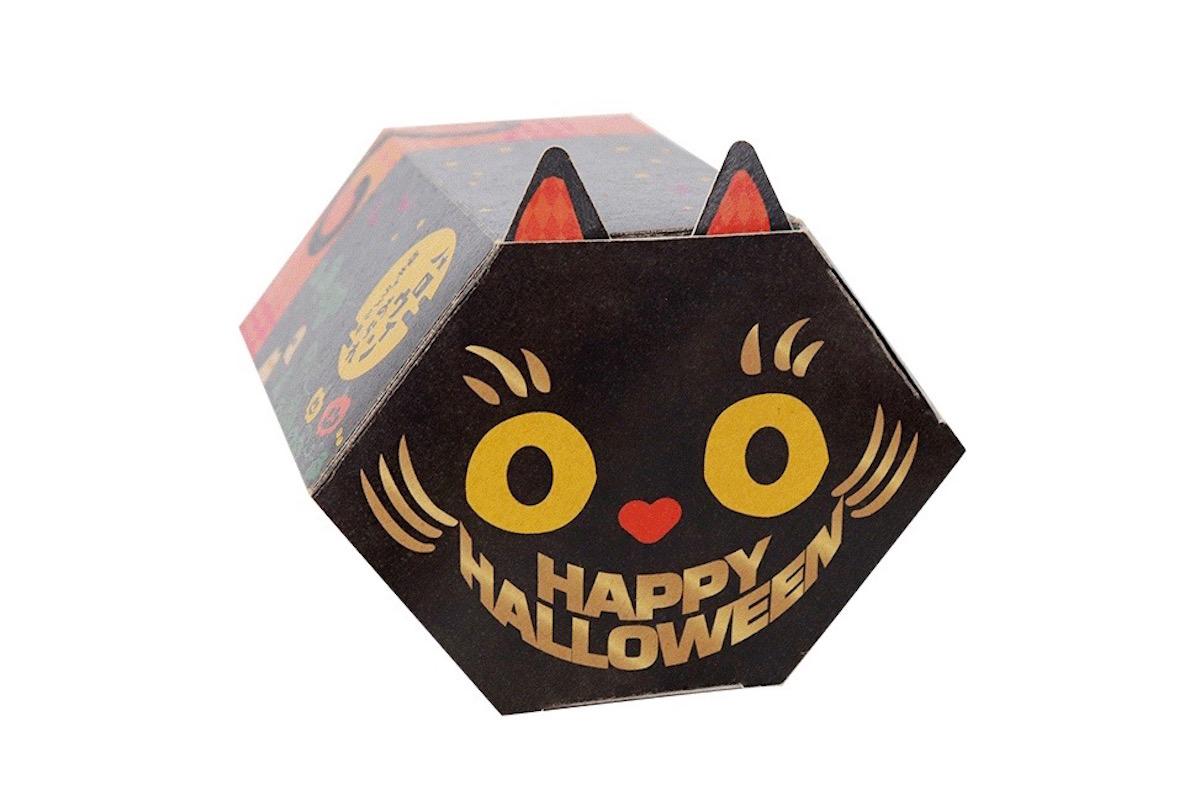 富山柿山のハロウィンあられ黒猫
