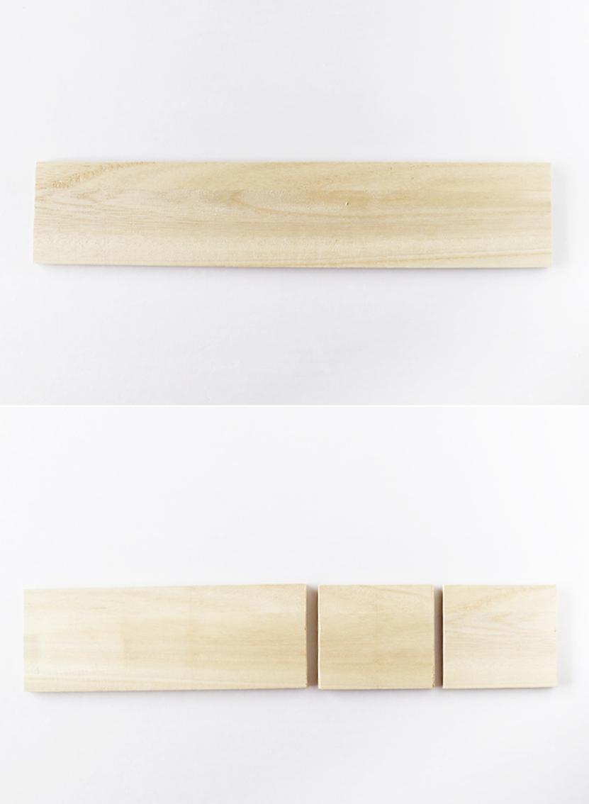 ミニラック用に木板をカット