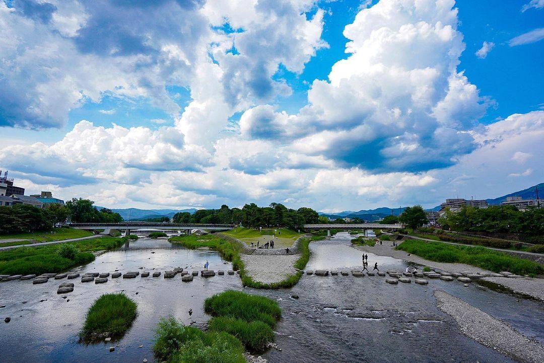 鴨川デルタの風景