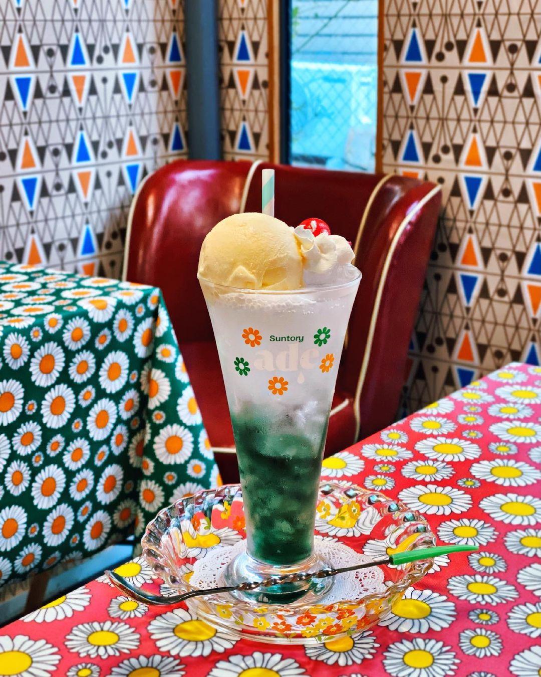 喫茶デイジーのクリームソーダ